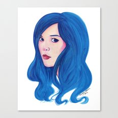 Blue Bubblegum Canvas Print