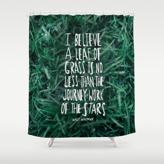 Leaf of Grass Shower Curtain