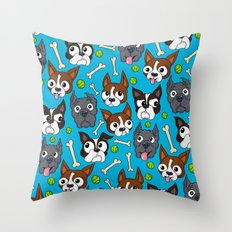 Duke, Biggie, Bluie Throw Pillow
