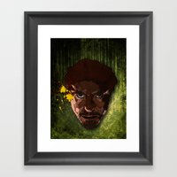 A Study In Stark Framed Art Print