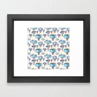 thousands of little blue trees Framed Art Print