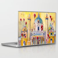 Laptop & iPad Skin featuring Vienna, famous Karlskirche saint Charles Church by Jane-Beata