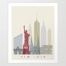 New York skyline poster Art Print