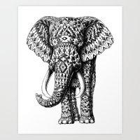 Navajo Elephant Art Print