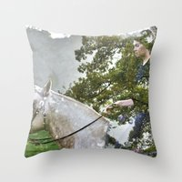 A Spark in the Trees Throw Pillow