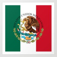 Art Print featuring Flag Of Mexico (augmente… by Bruce Stanfield