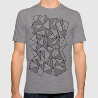 Abstraction Lines Black … Mens Fitted Tee Tri-Grey SMALL