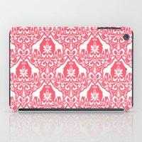 Giraffe Damask Coral iPad Case