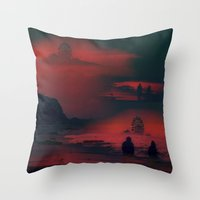 Carnival at the Beach Throw Pillow