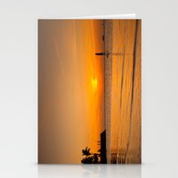 Sunset paddleboarding Stationery Cards