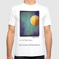 Tethered Moon Mens Fitted Tee White SMALL