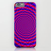 Red And Blue Spiral iPhone 6 Slim Case