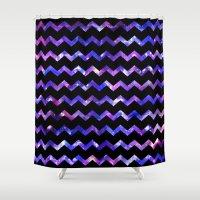 Chevron Galaxy Shower Curtain