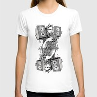 Double Stereo Moses Womens Fitted Tee White SMALL