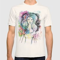 doodle girl Mens Fitted Tee Natural SMALL