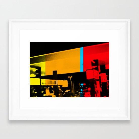 Aberration Station Framed Art Print