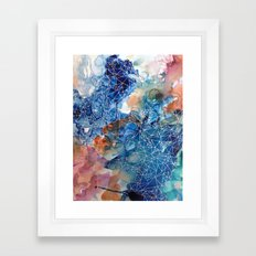 She has a lot to say Framed Art Print