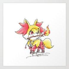 Flame Games Art Print