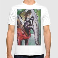 Baby Elephant & Big Elep… Mens Fitted Tee White SMALL