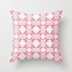 Flamingo Mozaic Pattern Throw Pillow