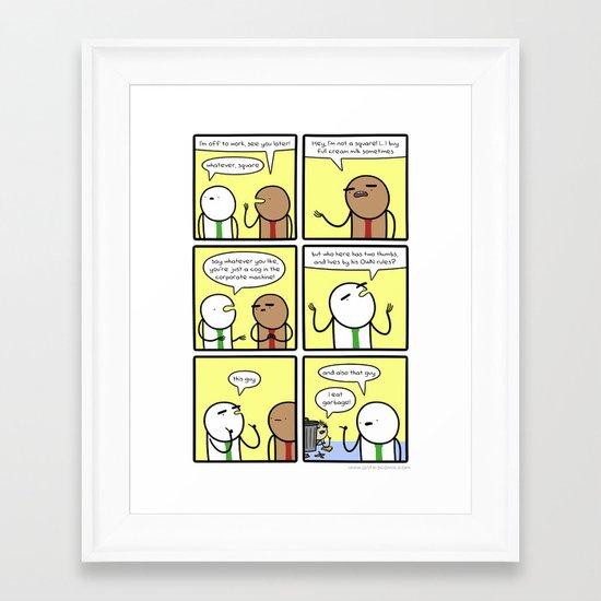 Antics #272 - a fine business mentor Framed Art Print