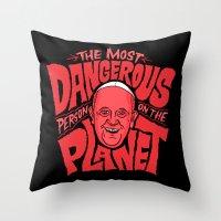 The Notorious P.O.P.E Throw Pillow