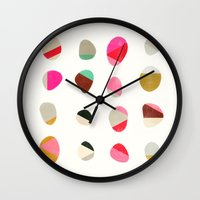 painted pebbles 1 Wall Clock