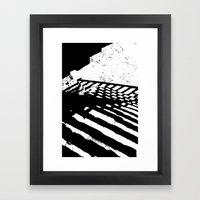 Steps And Shadows Framed Art Print