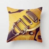 Wild Nights - Guitar Throw Pillow