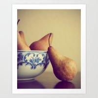 Rustic Pears Art Print