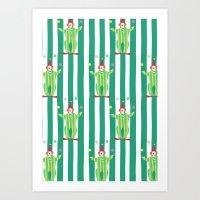 Clown (green) Art Print