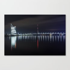 Bridge at evening Canvas Print