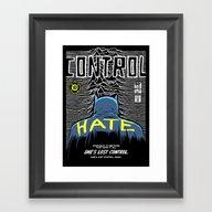 Post-Punk Bat: Control Framed Art Print