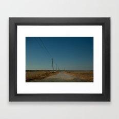 Road to the Bridge to Nowhere, Stafford, NJ Framed Art Print