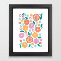 Cheerful Florals Framed Art Print
