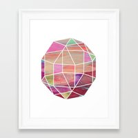 Geometric Tundra  Framed Art Print