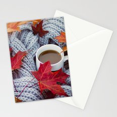 autumn coffee Stationery Cards