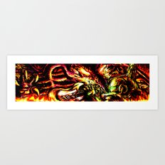 Metroid Metal: Ridley- Through the Fire.. Art Print
