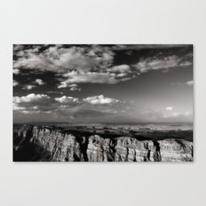 Grand Canyon - Black and White Canvas Print