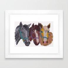 Horse Triptych #2 Framed Art Print