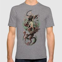 Mermaid Mens Fitted Tee Tri-Grey SMALL