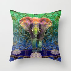 Wandering Elephant Throw Pillow