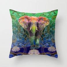 Wandering Elephant Throw Pillow
