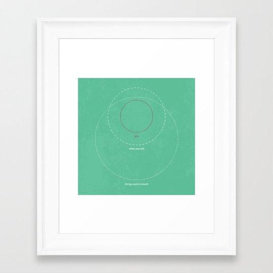 What You Eat Framed Art Print
