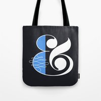 Ampersand Black Tote Bag