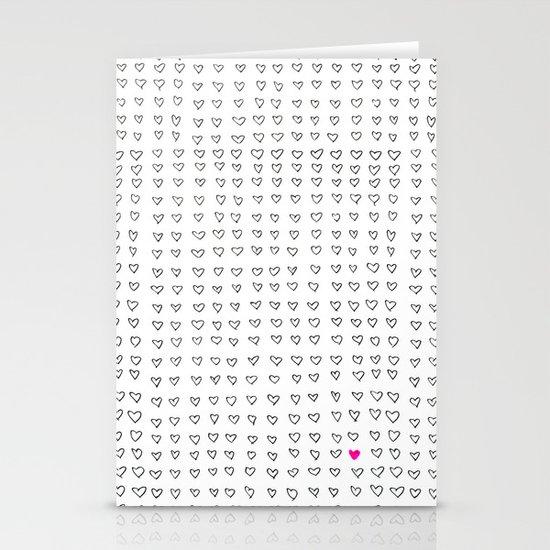 Hearts Stationery Card