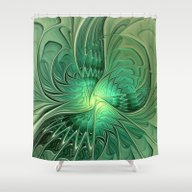 The Abstract Action, Fra… Shower Curtain