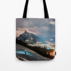 Banff At Night Tote Bag