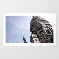 Montmartre Heart  Art Print
