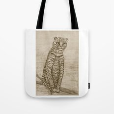 Ocelot Watching, by Ave Hurley Tote Bag